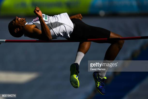 MohammedAli Benlahbib of France competes in the Men's High Jump National Event during day 1 of the European Athletics Team Championships at the Lille...