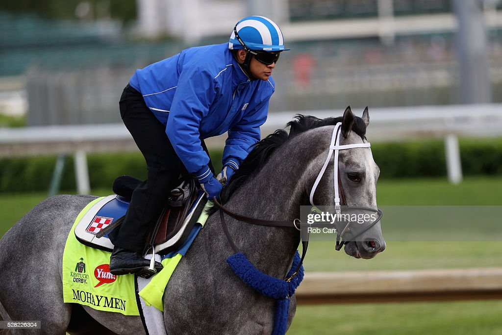 Mohaymen trains on the track for the Kentucky Derby at Churchill Downs on May 04, 2016 in Louisville, Kentucky.