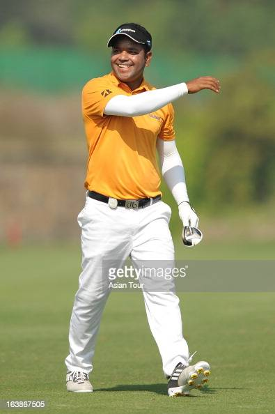 Mohd Siddikur of Bangladesh in action during day 4 of the Avantha Masters at Jaypee Greens Golf Course on March 17 2013 in Noida India