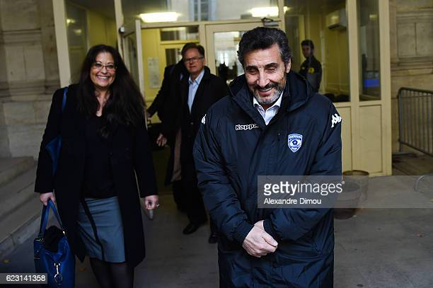 Mohed Altrad president of Montpellier and Isabelle Samama Samuel lawyer of Montpellier during the trial of the Fabien Galthie dismissal with...