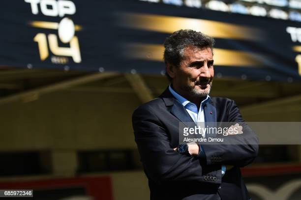 Mohed Altrad president of Montpellier during the Top 14 match between Montpellier Rugby and Racing 92 on May 20 2017 in Montpellier France