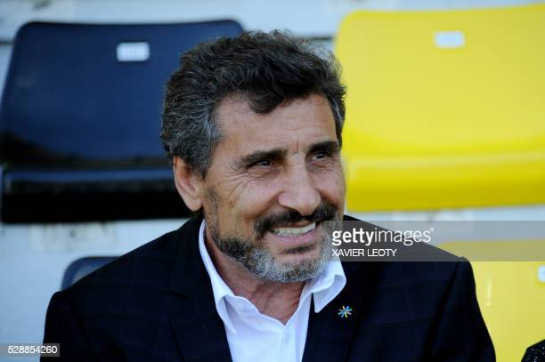 Mohed Altrad smiles before the French Top 14 rugby union match La Rochelle vs Montpellier on May 7 2016 at the Marcel Deflandre stadium in La...