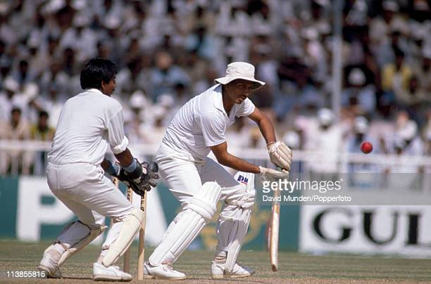 Mohinder Amarnath batting for India against Pakistan during the Champions Trophy match at Sharjah Stadium in the United Arab Emirates on 15th October...
