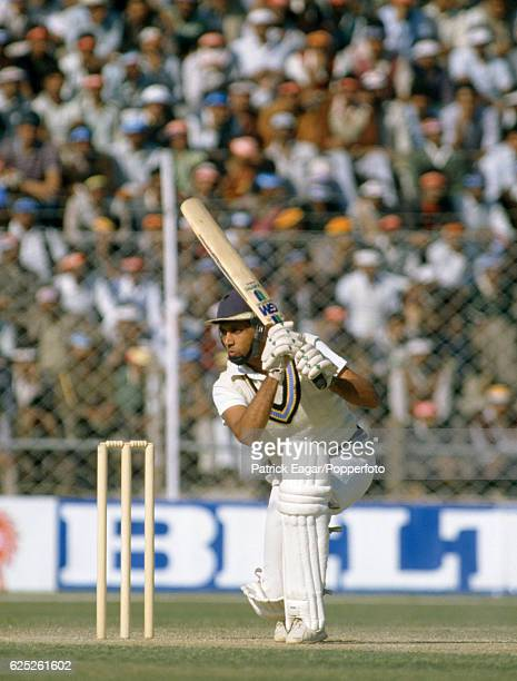 Mohinder Amarnath batting for India during the 2nd Test match between India and England at Feroz Shah Kotla Delhi India 12th December 1984