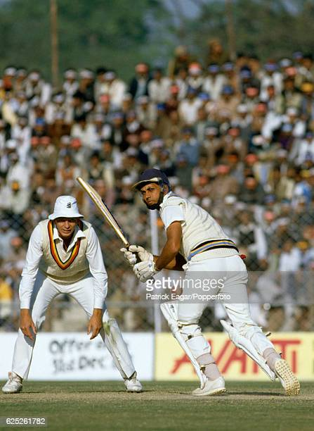 Mohinder Amarnath batting for India during the 2nd Test match between India and England at Feroz Shah Kotla Delhi India 12th December 1984 The...