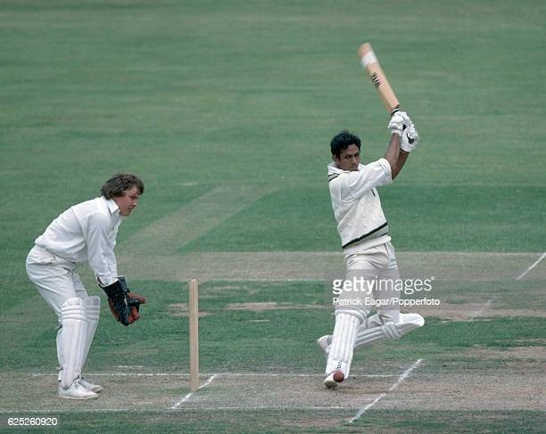 Mohinder Amarnath batting for India during the tour match between Marylebone Cricket Club and the Indians at Lord's Cricket Ground London 30th June...