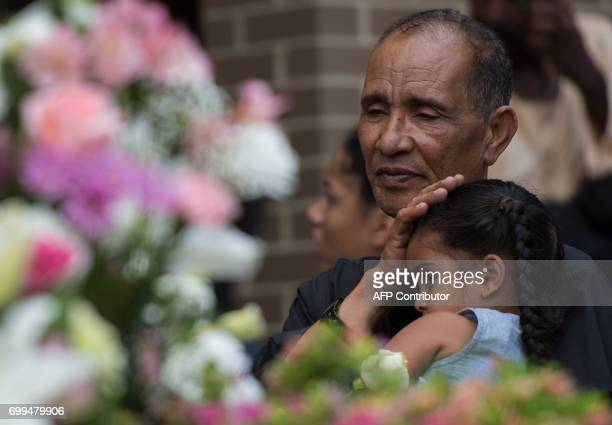 Mohmoud Hassanen the father of Nabra Hassanen grieves during a vigil in Sterling Virginia on June 21 2017 The 17yearold Muslim girl killed with a...
