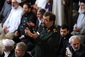Mohsen Rezaei a former Iranian Revolutionary Guard commander and twotime presidential candidate stands during Friday Prayers during a Qods Day rally...