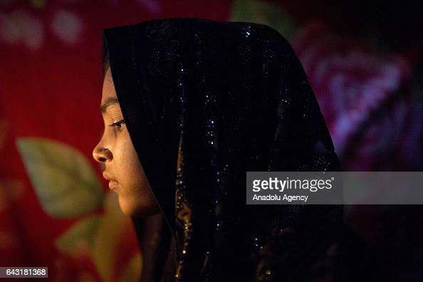 COX'S BAZAR BANGLADESH FEBRUARY 20 Mohsena Akter one of the women who were raped by Myanmar armed forces members takes shelter at Leda unregistered...