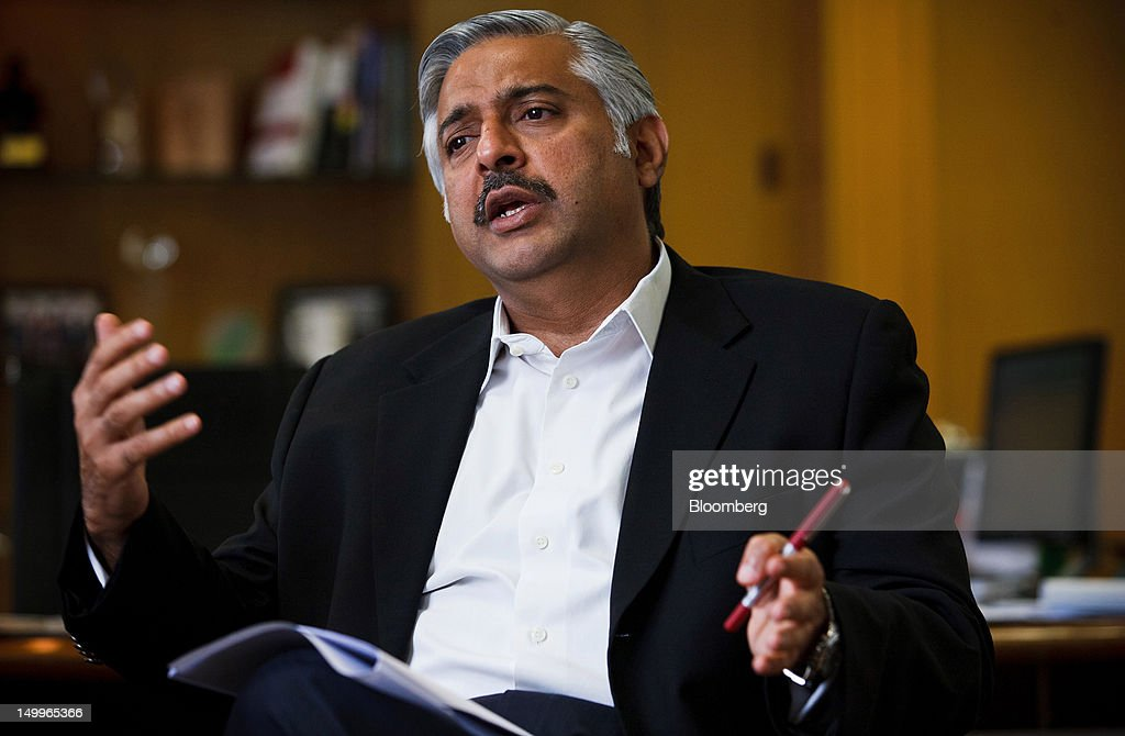 Mohsin Ali Nathani, chief executive officer of Standard Chartered Bank Pakistan Ltd., speaks during an interview in Karachi, Pakistan, on Tuesday, Aug. 7, 2012. Pakistan banks' profit growth may slow over the next three years as blackouts and war on the country's borders weigh on companies' appetite to borrow and invest, according to Standard Chartered. Photographer: Asim Hafeez/Bloomberg via Getty Images