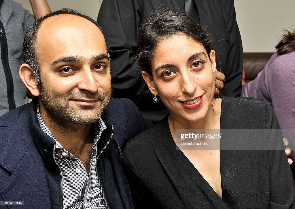 Mohsin Hamid with wife Zahra attend the after party following 'The Reluctant Fundamentalist' screening during the 2013 New York Indian Film Festival at Yuva on April 24, 2013 in New York City.