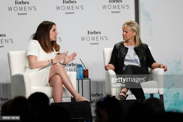 Moira Forbes and Gretchen Carlson attends the 2017 Forbes Women's Summit at Spring Studios on June 13 2017 in New York City