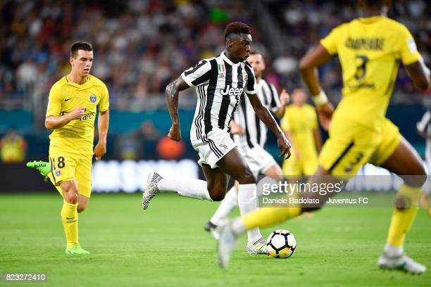 Moise Bioty Kean during the International Champions Cup 2017 match between Juventus and Paris Saint Germain at Hard Rock Stadium on July 26 2017 in...