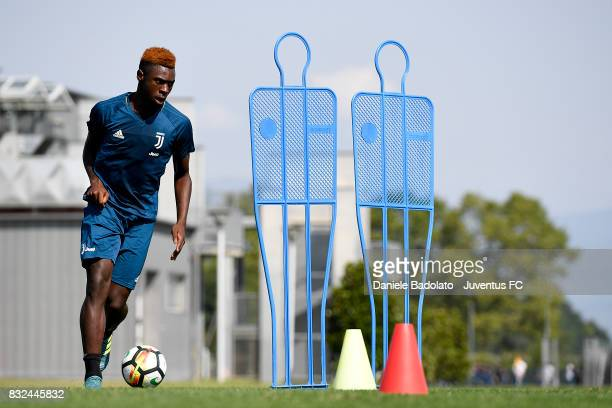 Moise Bioty Kean during the morning training session at Juventus Center Vinovo on August 16 2017 in Vinovo Italy