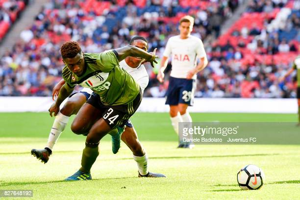 Moise Bioty Kean during the Tottenham Hotspur v Juventus PreSeason Friendly match at Wembley Stadium on August 5 2017 in London England