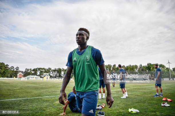 Moise Bioty Kean of Juventus during the afternoon training session part of the Summer Tour 2017 by Jeep on July 23 2017 in Boston Massachusetts