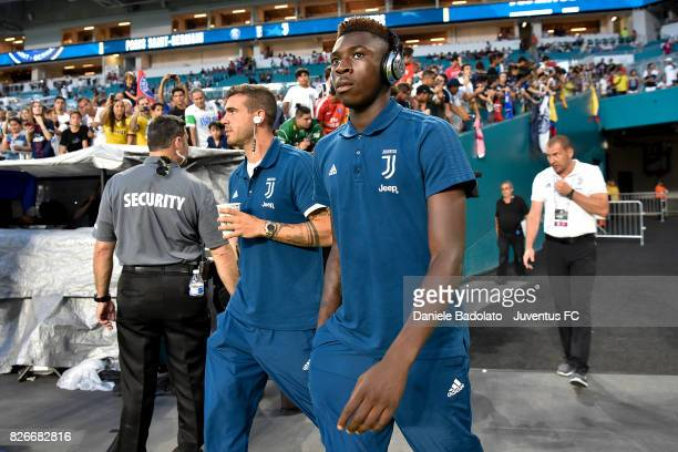 Moise Bioty Kean of Juventus in action before the International Champions Cup 2017 match between Paris Saint Germain and Juventus at Hard Rock...