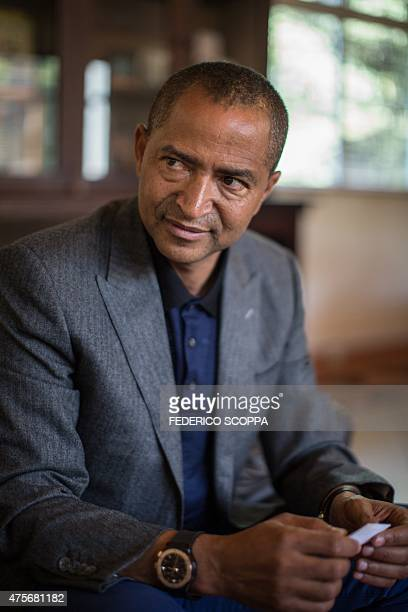 Moise Katumbi Chapwe Governor of Democratic Republic of Congo's Katanga province is pictured during an interview on June 2 2015 in Lubumbashi AFP...
