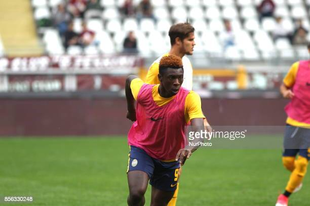 Moise Kean before the Serie A football match between Torino FC and Hellas Verona FC at Olympic Grande Torino Stadium on 1 October 2017 in Turin Italy