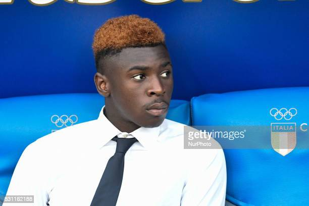 Moise Kean of Juventus during the Italian Supercup Final match between Juventus and Lazio at Stadio Olimpico Rome Italy on 13 August 2017