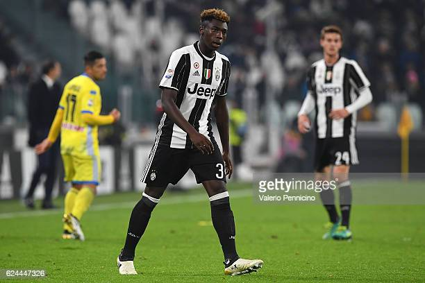 Moise Kean of Juventus FC looks on during the Serie A match between Juventus FC and Pescara Calcio at Juventus Stadium on November 19 2016 in Turin...