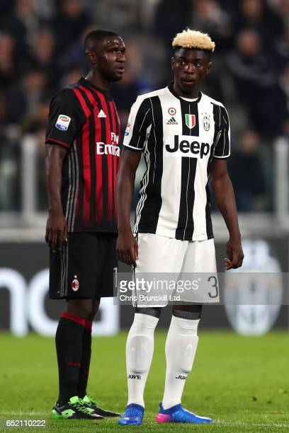 Moise Kean of Juventus FC looks on during the Serie A match between Juventus FC and AC Milan at Juventus Stadium on March 10 2017 in Turin Italy