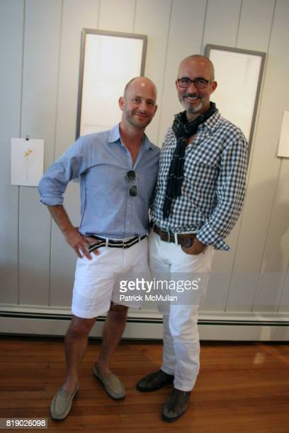 Moises Esquenazi and Tim O'Brien attend Gustavo Bonevardi Opening at Gallery B on May 30 2010 in Sag Harbor New York