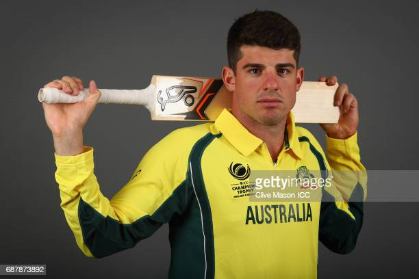 Moises Henriques of Australia poses during a portrait session ahead of the ICC Champions Trophy at the Royal Garden Hotel on May 24 2017 in London...