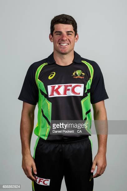 Moises Henriques poses during the Australian Mens Twenty20 Headshots Session on February 14 2017 in Melbourne Australia