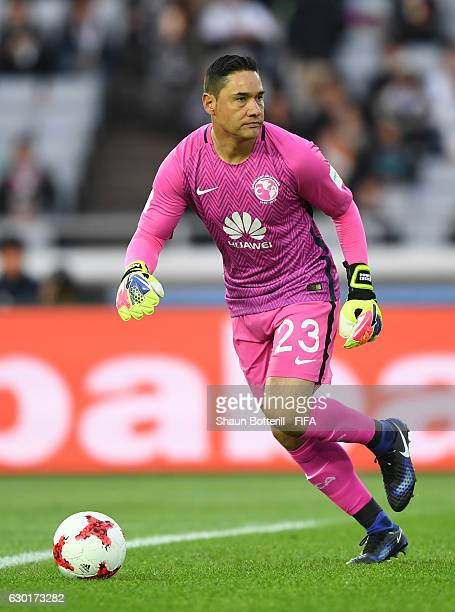 Moises Munoz of Club America in action during the FIFA Club World Cup 3rd Place match between Club America and Atletico Nacional at International...