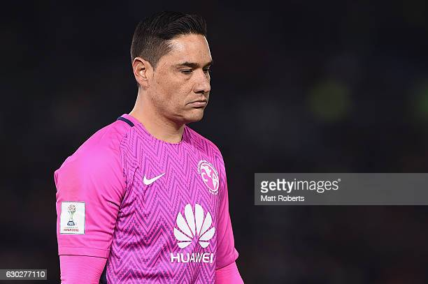 Moises Munoz of Club America looks dejected during the FIFA Club World Cup 3rd place match between Club America and Atletico Nacional at...