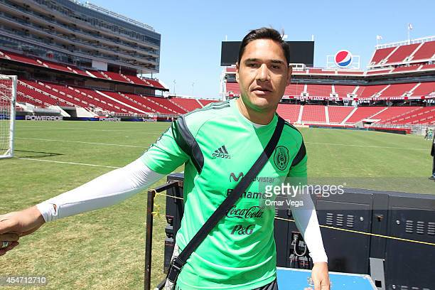 Moises Muoz of Mexico stares at camera during Mexico's National Team training session at Levi's Stadium September 05 2014 in Santa Clara United States