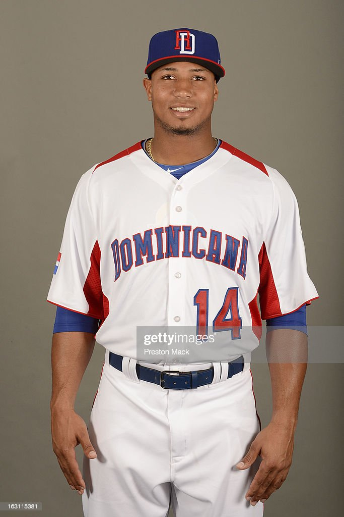 Moises Sierra #14 of Team Dominican Republic poses for a headshot for the 2013 World Baseball Classic on March 4, 2013 at George M. Steinbrenner Field in Tampa, Florida.