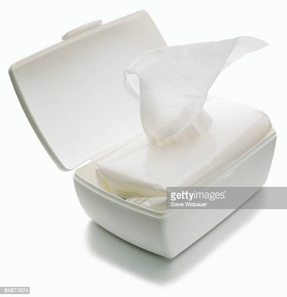 Moist baby wipes dispenser for diaper change