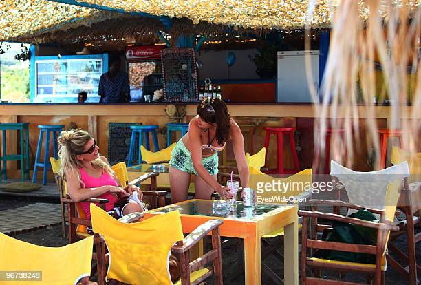Mojito Bar and Beachbar on July 16 2009 in Rhodes Greece Rhodes is the largest of the Greek Dodecanes Islands