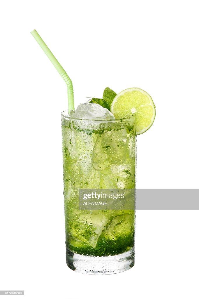 Mojito cocktail on White background.