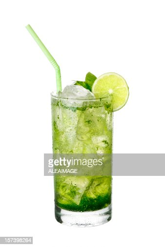 Mojito cocktail on White background.