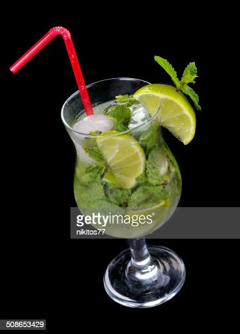 Mojito cocktail with lime : Stock Photo