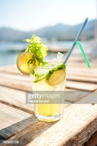 Mojito coctail on the beach