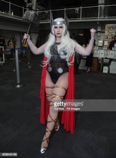 Mojo Jones as Thor at the London Super Comic Con at the Business Design Centre in London