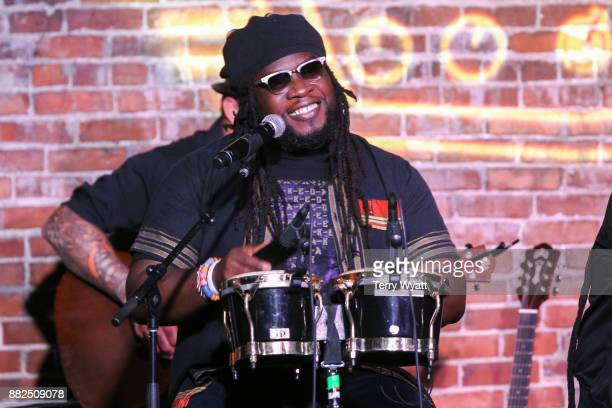 Mojo Morgan of Morgan Heritage performs at Acme Feed Seed on November 29 2017 in Nashville Tennessee
