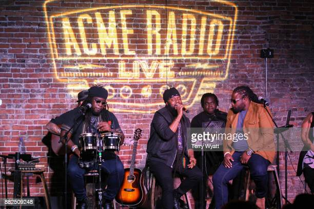 Mojo Morgan Peetah Morgan and Gramps Morgan of Morgan Heritage perform at Acme Feed Seed on November 29 2017 in Nashville Tennessee
