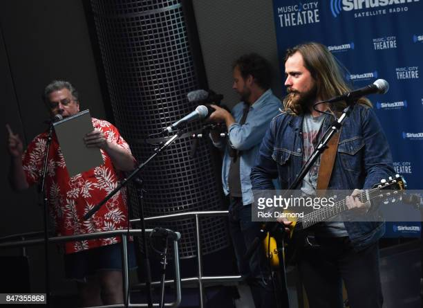Mojo Nixon of SiriusXM Outlaw Country chats with Singer/Songwriter Lukas Nelson during Americanafest OffCampus And SiriusXM Present Lukas Nelson...