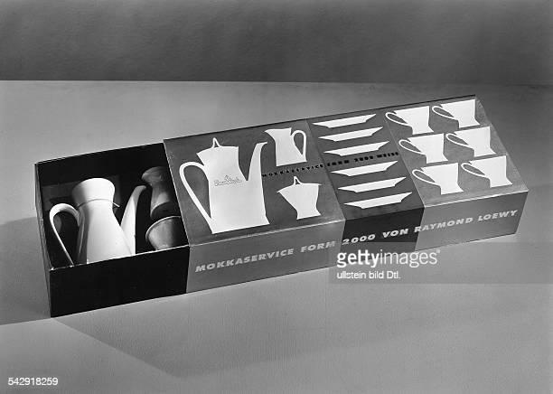 Mokkaservice Form 2000 von Raymond Loewy im Schubkarton vermutl um 1960