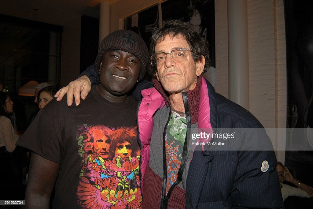 Moko and Lou Reed attend Dom Perignon Hosts A Celebration Of Karl Lagerfeld's New Book '7 Fantasmes Of A Woman' at The Mercer on December 8 2005 in...