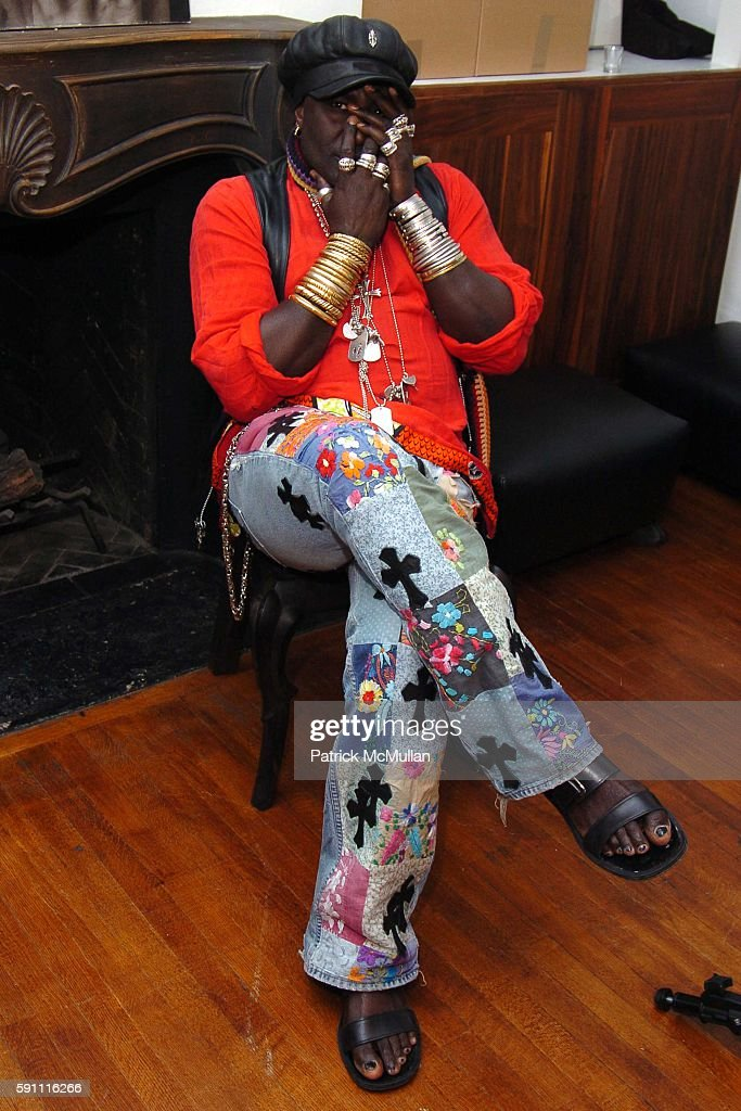 Moko attends CHROME HEARTS Party for ELLE Accessories Magazine hosted by Richard Laurie Lynn Stark at Chrome Hearts on April 14 2005 in New York City