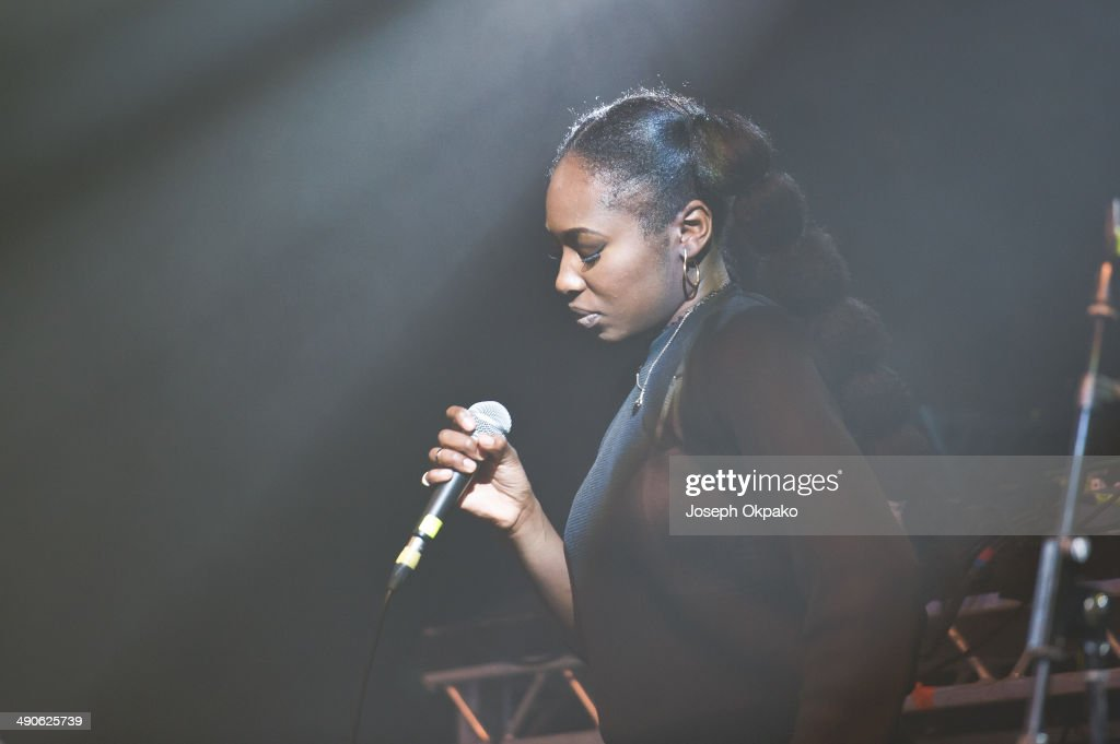 Moko performs on stage at Electric Brixton on May 14 2014 in London United Kingdom