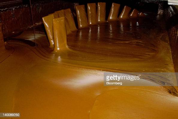 Molasses is mixed at the processing facility of Compania Azucarera Salvadorena also known as the Salvadoran Sugar Co in Sonsonate El Salvador on...