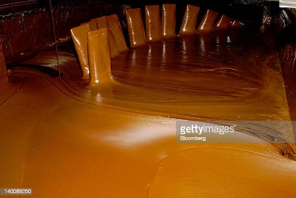 Molasses is mixed at the processing facility of Compania Azucarera Salvadorena also known as the Salvadoran Sugar Co in Sonsonate El Salvador on...
