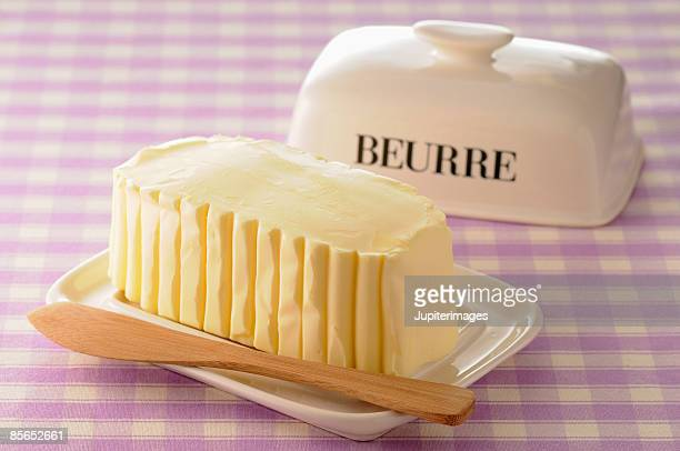 Molded butter in ceramic dish